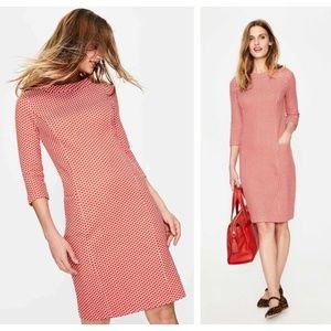 BODEN Sarah Jacquard Dress Red Pop {GG17}